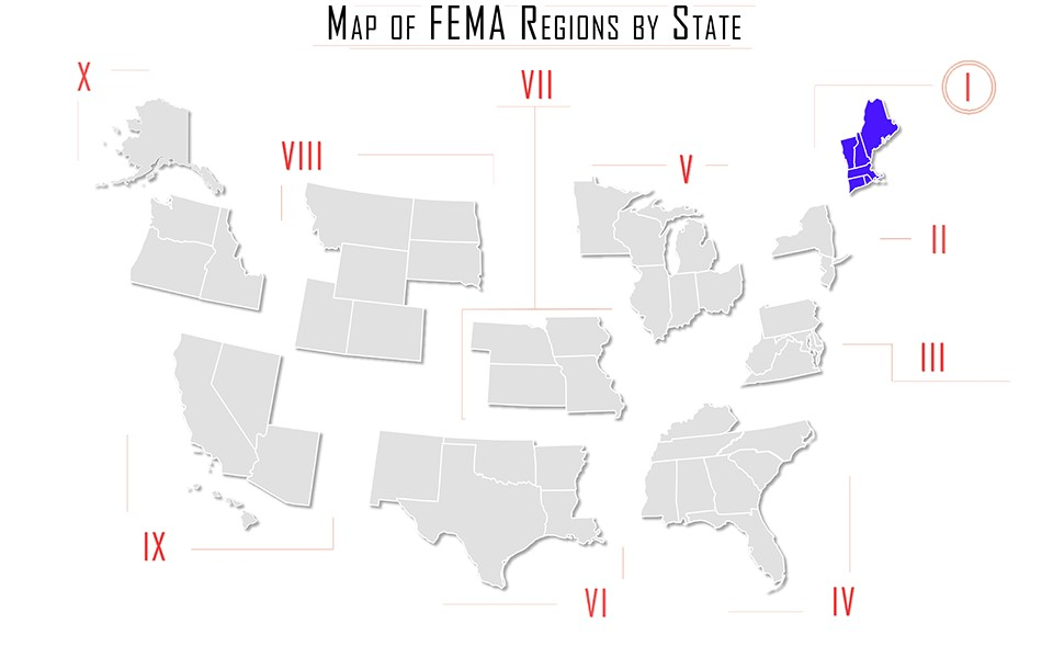 Fema Region I Map