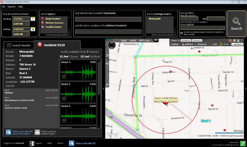 Shotspotter screenshot
