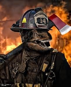 T-rex firefighter