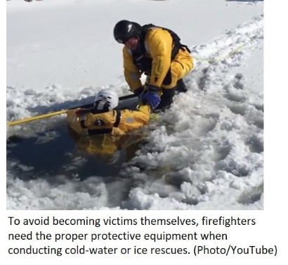 photo of ice rescue