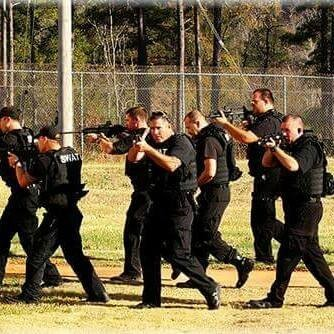 Eufaula SWAT Team Moving in Formation