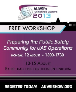 AUVSI - Free Workshop, August 12th, 1300-1700 Also August 13th - 15th