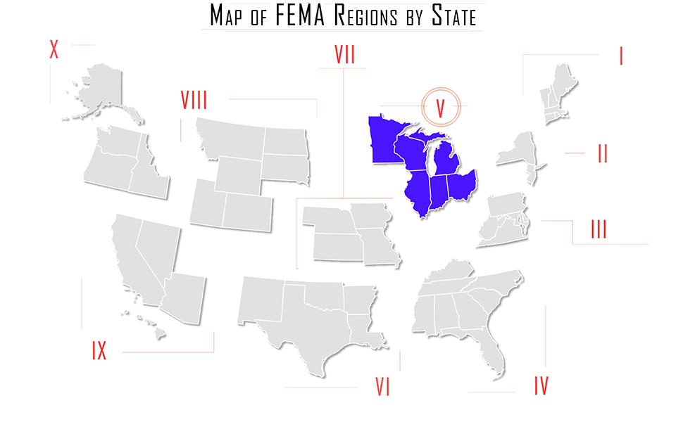 At The Region Ems 5 Fema Region V Illinois Indiana Ohio