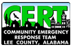 Lee County EMA Emergency Management Community Emergency Response Team CERT logo