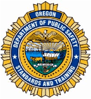 Oregon OR department of public safety DPS training logo seal