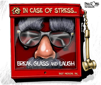 Paul Combs - In Case of Stress - Break Glass and Laugh (Novelty glasses with attached mustache behind glass in case