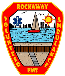 Rockaway Volunteer Ambulance Search and Rescue Corps (R.V.A.C) Logo