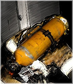Firefighter with SCBA (Self Contained Breathing Apparatus)